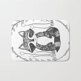 Portrait of a Raccoon Bath Mat