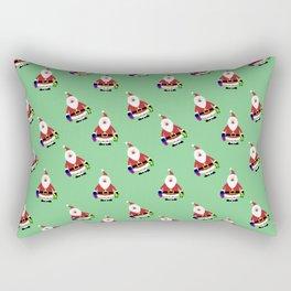 Christmas santa background Rectangular Pillow