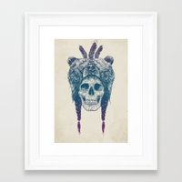 dead Framed Art Prints featuring Dead shaman by Balazs Solti