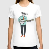 banjo T-shirts featuring Banjo Badger by Prelude Posters
