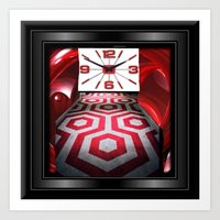 Red Time Art Print