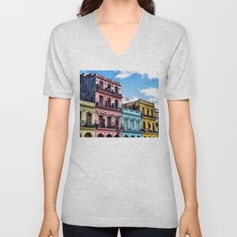 On the streets of Havana, Cuba Unisex V-Neck