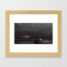 Signal Fire I Framed Art Print