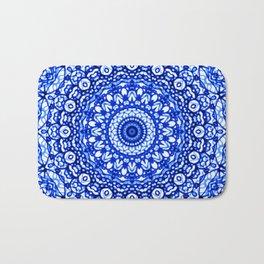 Blue Mandala Mehndi Style G403 Bath Mat