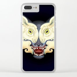 Wolf Lamb Clear iPhone Case