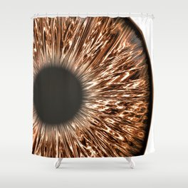 The Brown Iris Shower Curtain
