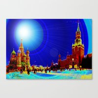 moscow Canvas Prints featuring Moscow by JT Digital Art
