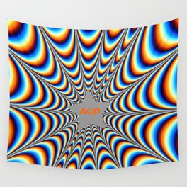 acid funky funny drippy design Wall Tapestry