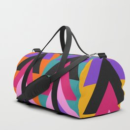 Multicolored arrows and bright stripes Duffle Bag