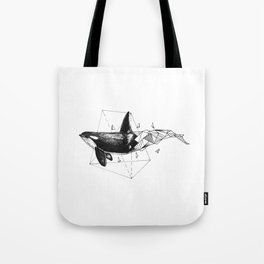 Geometric Season1:1 Whale Tote Bag