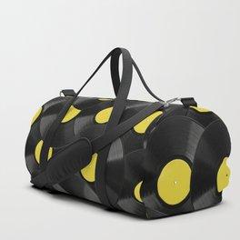 Vinyl Records Pattern (Yellow) Duffle Bag