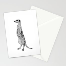Standing Meerkat Stationery Cards