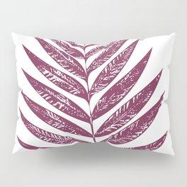 Simple Botanical Design in Dark Plum Pillow Sham