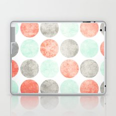 Circles (Mint, Coral & Gray) Laptop & iPad Skin