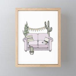 Couchella Framed Mini Art Print