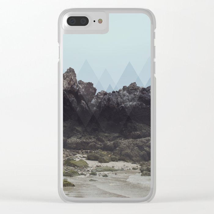 Geometric Rocks Clear iPhone Case