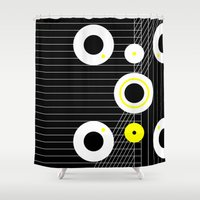 cosmos Shower Curtains featuring Cosmos by Omar VP