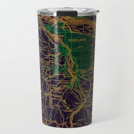 Portland old map, year 1948 Travel Mug
