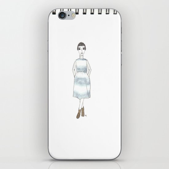 girl in a dress iPhone & iPod Skin