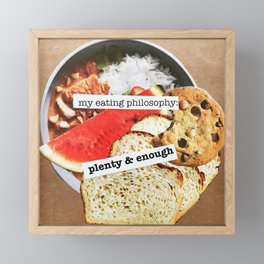 Food philosophy Framed Mini Art Print