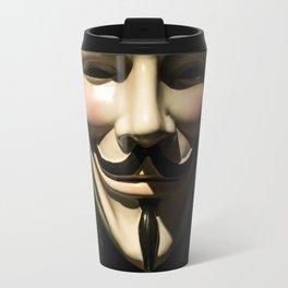 Vendetta face mask - Anonymous symbol Travel Mug