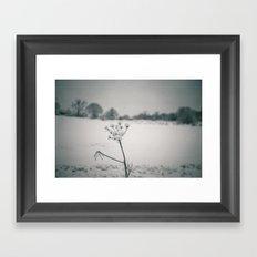Snow Detail Framed Art Print