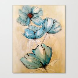 Vintage Blue Canvas Print