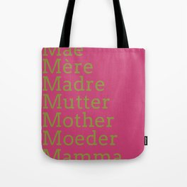 Mater - Pink Peacock Tote Bag