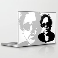 tim burton Laptop & iPad Skins featuring Tim by b & c