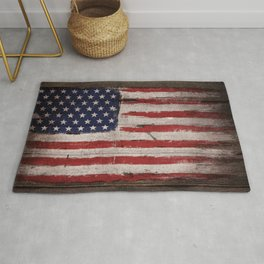 Wood American flag Rug
