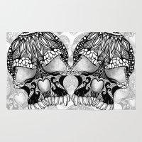 sugar skull Area & Throw Rugs featuring Sugar Skull.  by Digi Treats 2