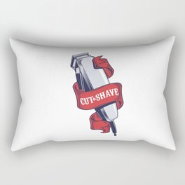 Collection badges, logos with barbershop tools Rectangular Pillow