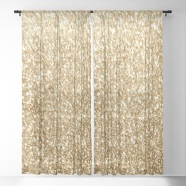 Gold glitter Sheer Curtain