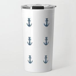 Nautical Marine Anchor Retro Seamless Pattern Travel Mug
