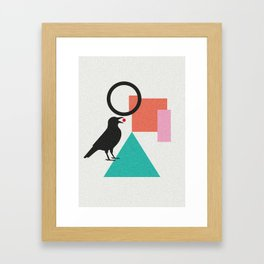 constructivist bird Framed Art Print