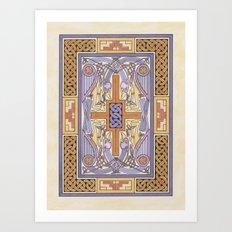 Cross-Carpet Page Art Print