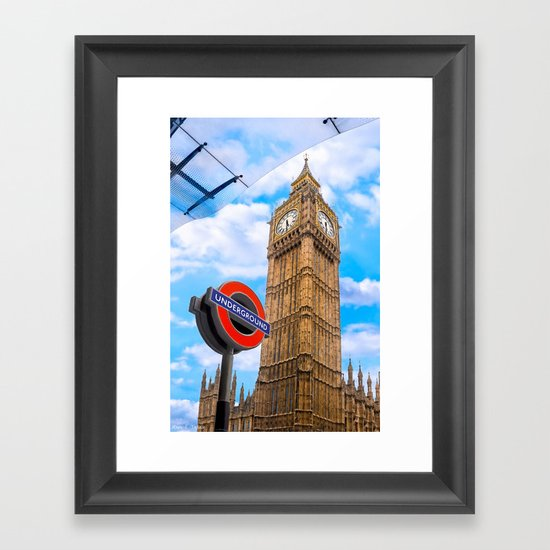 Iconic London - The Great Clock Tower - Big Ben Framed Art Print