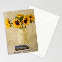 Vintage Sunflowers Stationery Cards