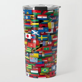 Flags of all countries of the world Travel Mug