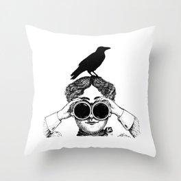 Where's that bird?! - humor Throw Pillow