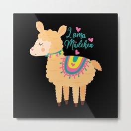 Alpaca Lama Just A Girl Who Loves Llamas Gift Metal Print