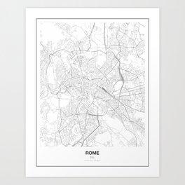 Rome, Italy Minimalist Map Art Print