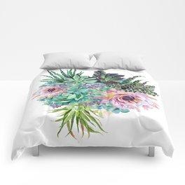 Succulent Bouquet Comforters
