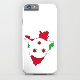 Burundi Map with Burundian Flag iPhone Case