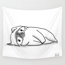 Sad Mochi the pug Wall Tapestry
