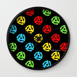 45 Spindle All Over Print Wall Clock