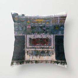 cassette recorder  - painting / illustration Throw Pillow