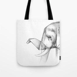Elephant Origami Tote Bag