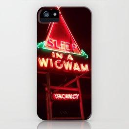 Neon Wigwam Motel iPhone Case