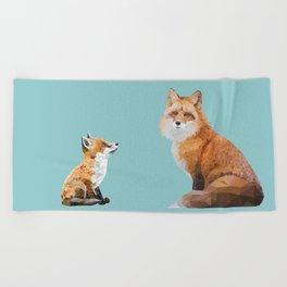 Fox Tenderness Beach Towel